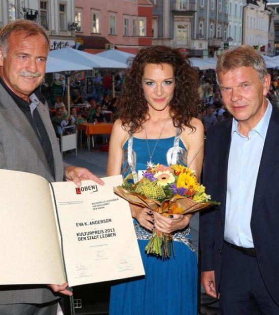 Eva K. Anderson – Kulturpreisträgerin 2011 der Stadt Leoben – Photo: Armin Russold/Foto Freisinger